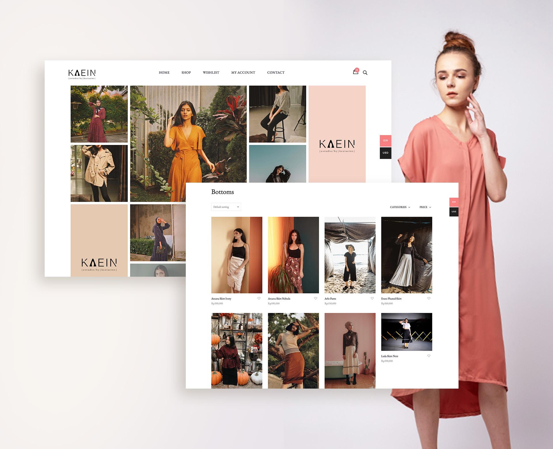 Kaein Studio Web Mockup