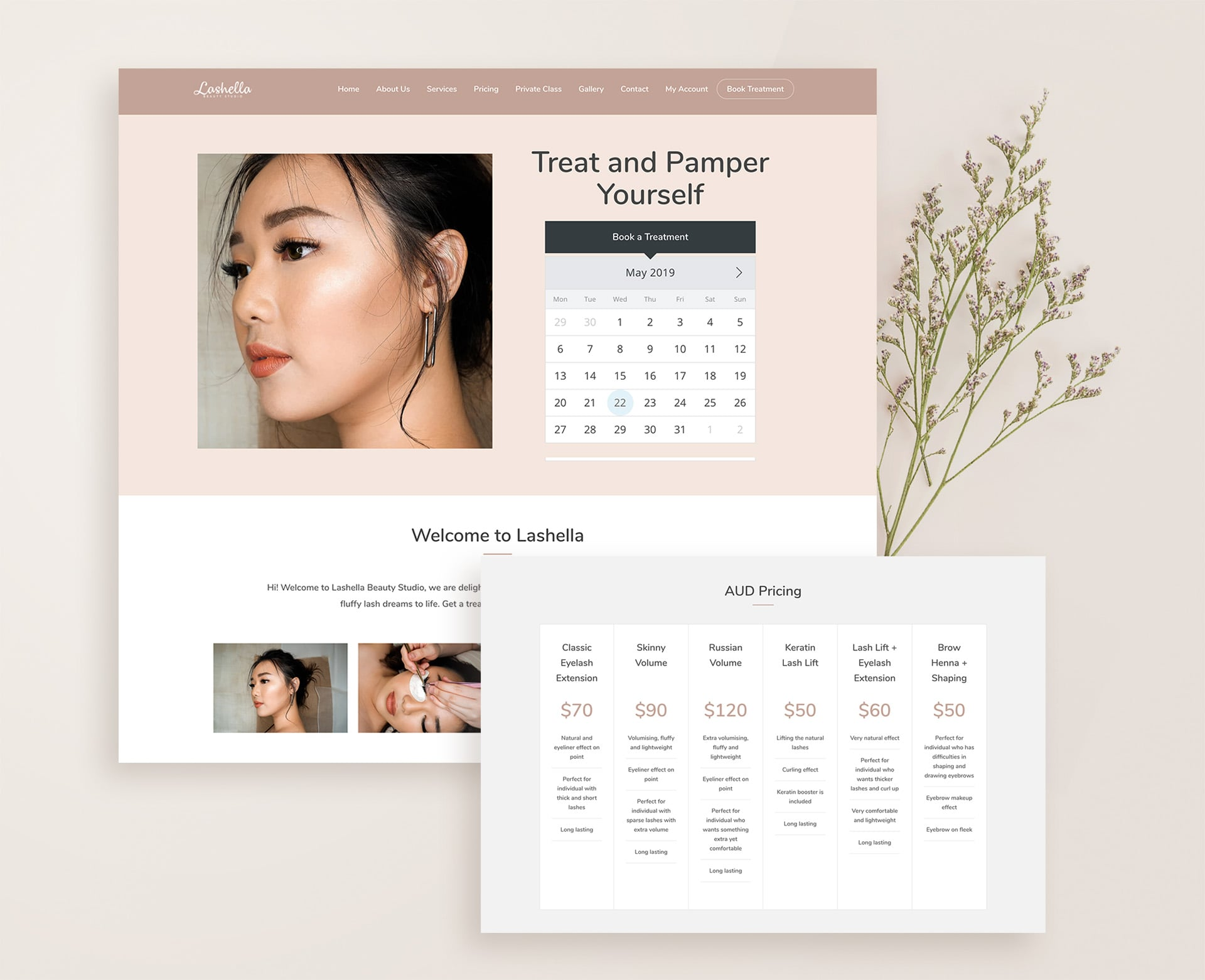 Lashella Beauty Web Mockup-min